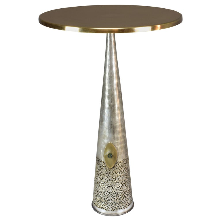 Brass Gueridon Side Table, Confinement Collection by JAS For Sale
