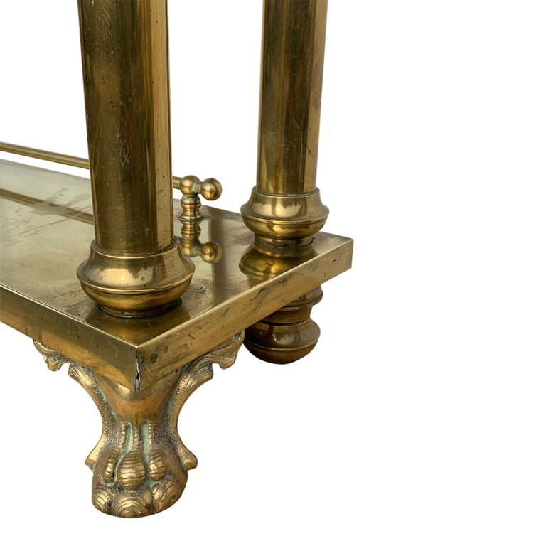 Brass Hall Tree Console Table / Mirror For Sale 6