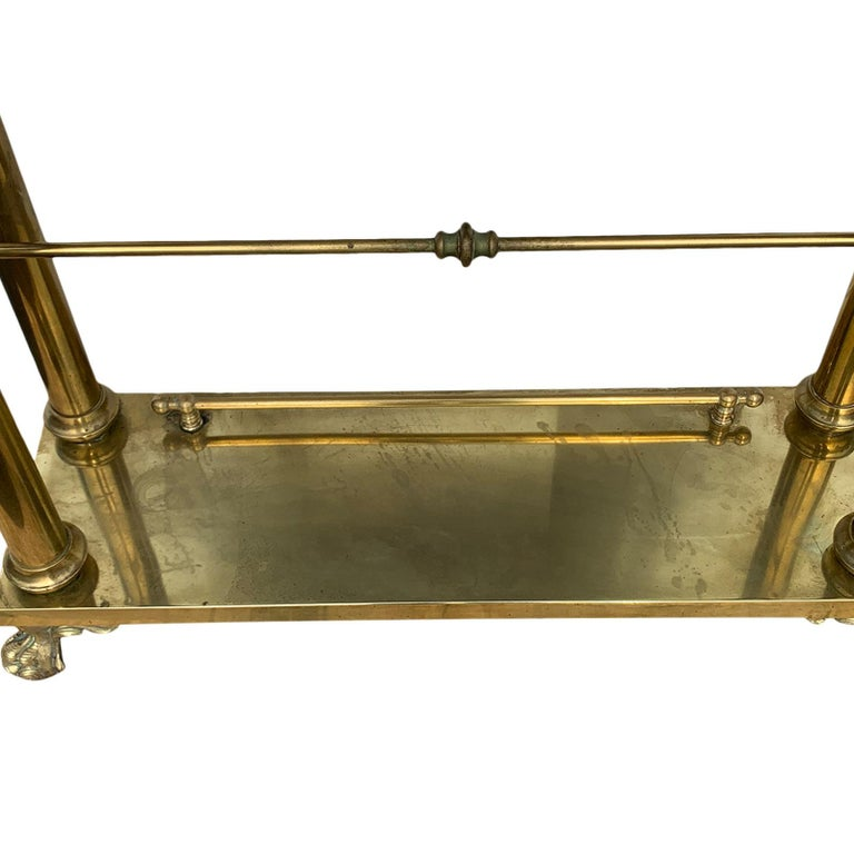 Brass Hall Tree Console Table / Mirror For Sale 2