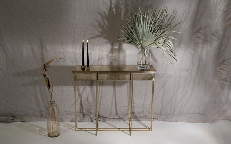 Brass Handcrafted Console Signed by Novocastrian For Sale 1