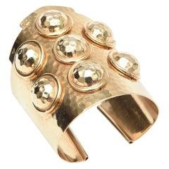 Brass Hand Hammered Cuff Bracelet Vintage