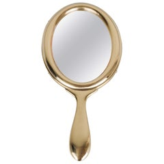 Brass Hand Mirror circa 1920s by Argentor