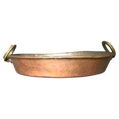 Brass Handled Copper Pot / Braising Pan