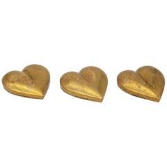 Brass Heart Paperweight