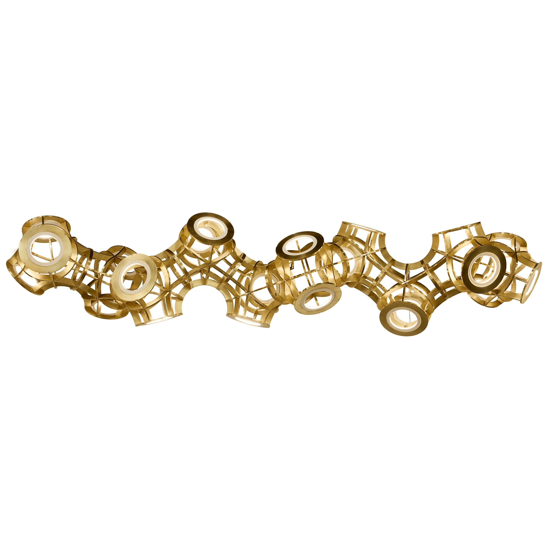 Brass Helix Chandelier by Cam Crockford