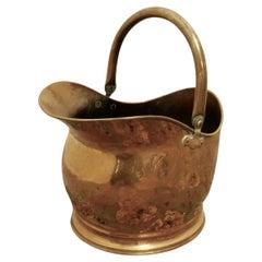 Brass Helmet Coal Scuttle
