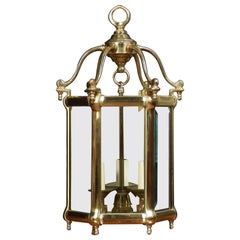 Brass Hexagonal Hall Lantern
