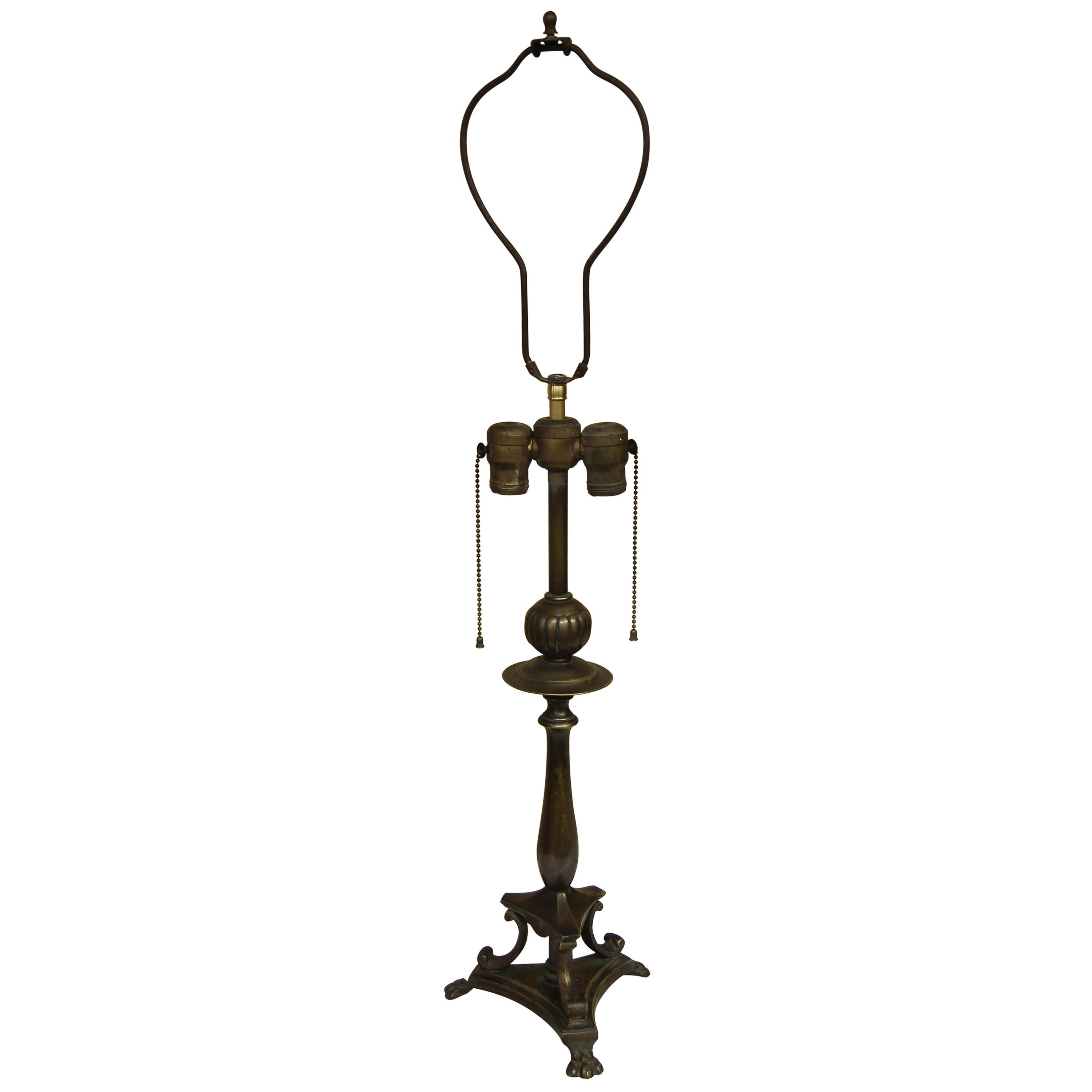 Brass Hollywood Regency Style Table Lamp