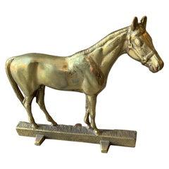 Brass Horse Door Stopper