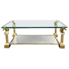 Brass Horsehead Coffee Table by Maison Charles, 1970