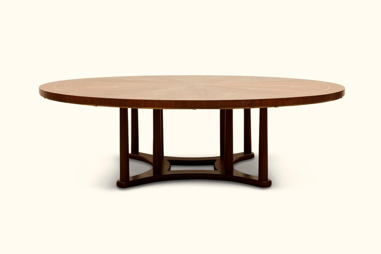 Mid-Century Modern Brass Inlaid Coffee Table by Bert England for Johnson Furniture For Sale