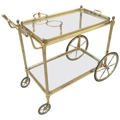Brass Italian Bar Cart