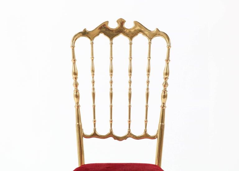 Brass Italian Mid-Century Modern Chair by Chiavari, 1960s For Sale 3