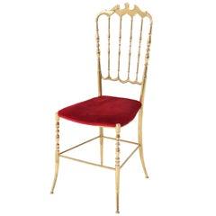 Brass Italian Mid-Century Modern Chair by Chiavari, 1960s