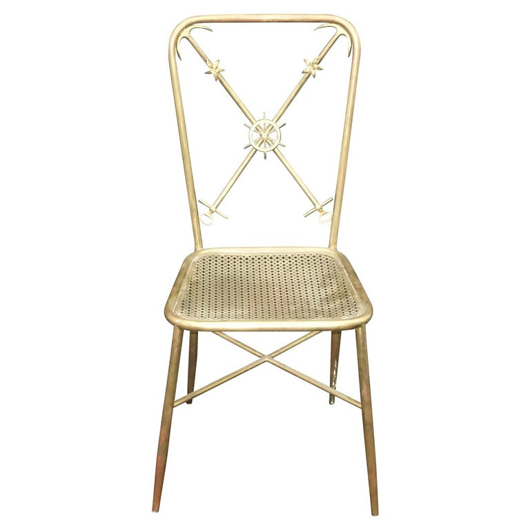 Modern 4 Italian Nautical Dining Chairs in the Manner of Gio Ponti For Sale