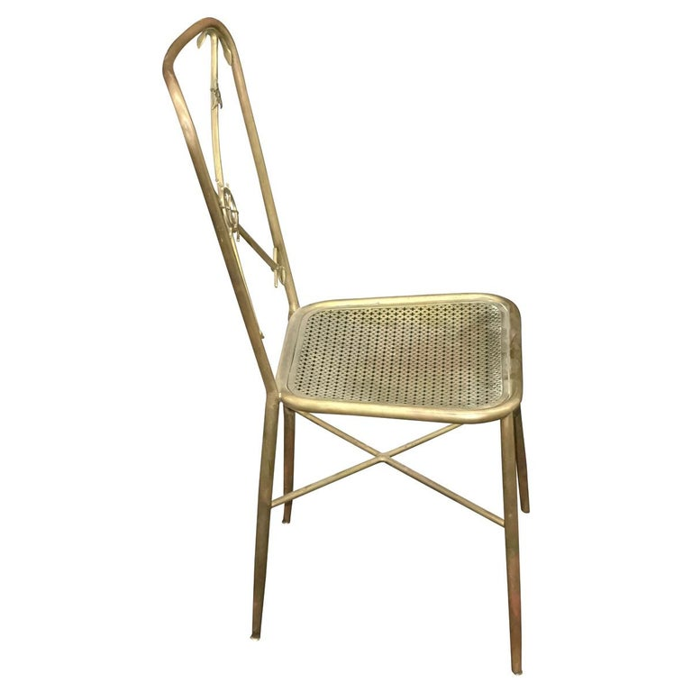 4 Italian Nautical Dining Chairs in the Manner of Gio Ponti In Good Condition For Sale In New York, NY