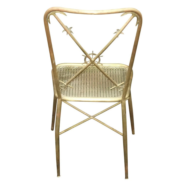 Mid-20th Century 4 Italian Nautical Dining Chairs in the Manner of Gio Ponti For Sale