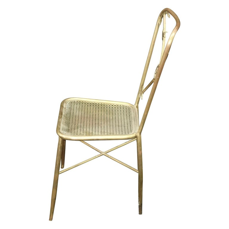 Metal 4 Italian Nautical Dining Chairs in the Manner of Gio Ponti For Sale