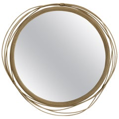 Brass Knot Round Mirror