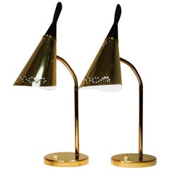 Brass Lamps Set of Two in the Manner of Laurel, 1950s, USA