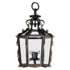 Brass Lantern or Pendant Light
