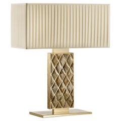 Brass Large Rectangular Table Lamp