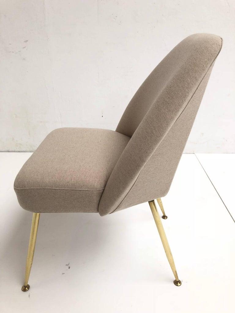 Brass Leg Chairs by Pagani, Partner of Gio Ponti & Linda Bo Bardi, 1952, Arflex 4