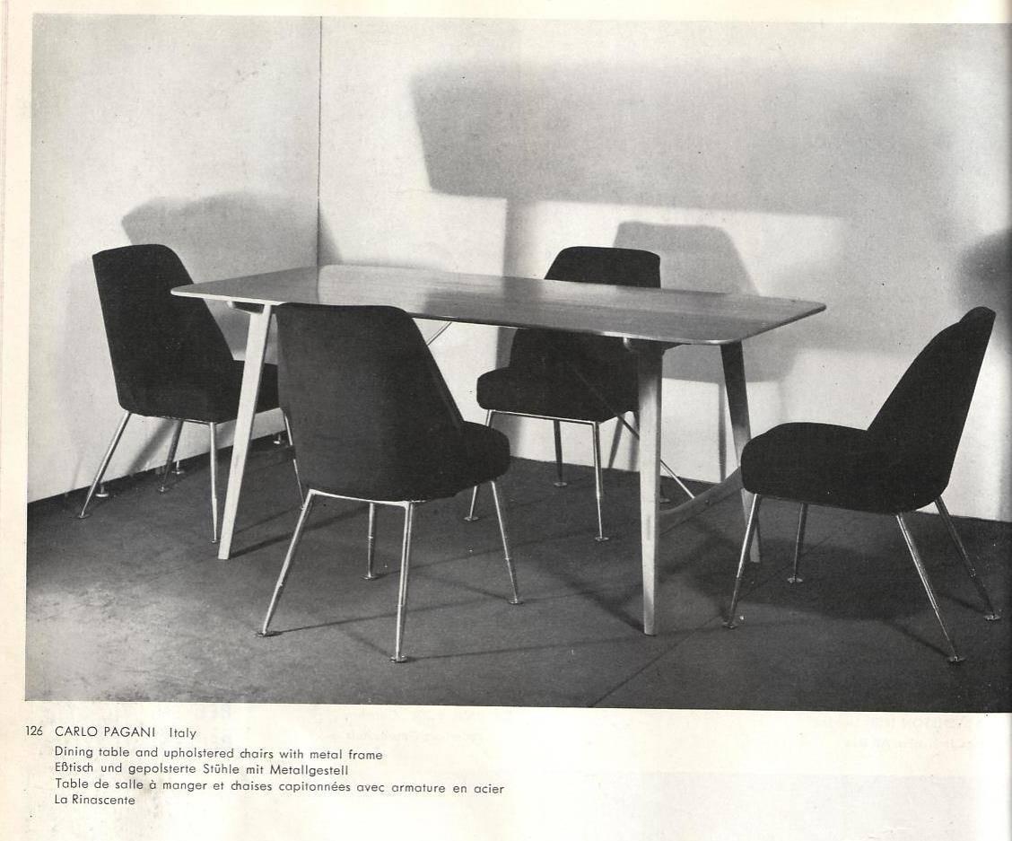 Brass Leg Chairs By Pagani Partner Of Gio Ponti Linda Bo Bardi 1952 Arflex