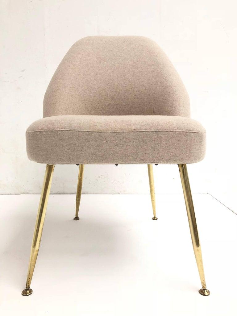 Brass Leg Chairs by Pagani, Partner of Gio Ponti & Linda Bo Bardi, 1952, Arflex For Sale 2