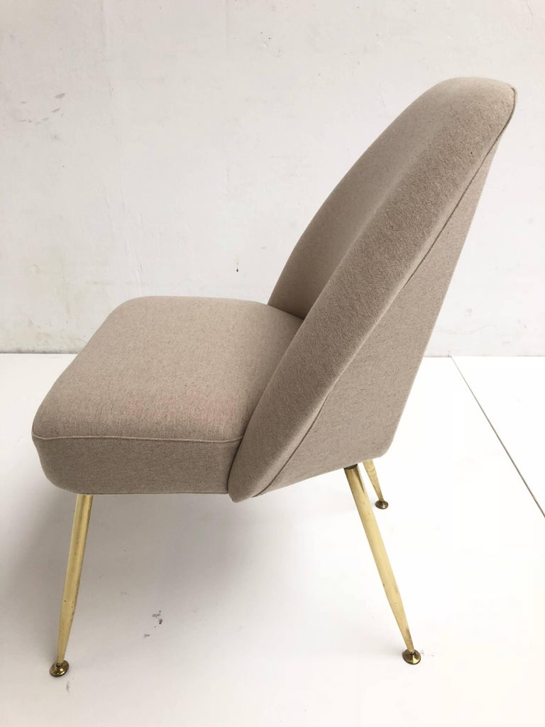 Brass Leg Chairs by Pagani, Partner of Gio Ponti & Linda Bo Bardi, 1952, Arflex For Sale 4