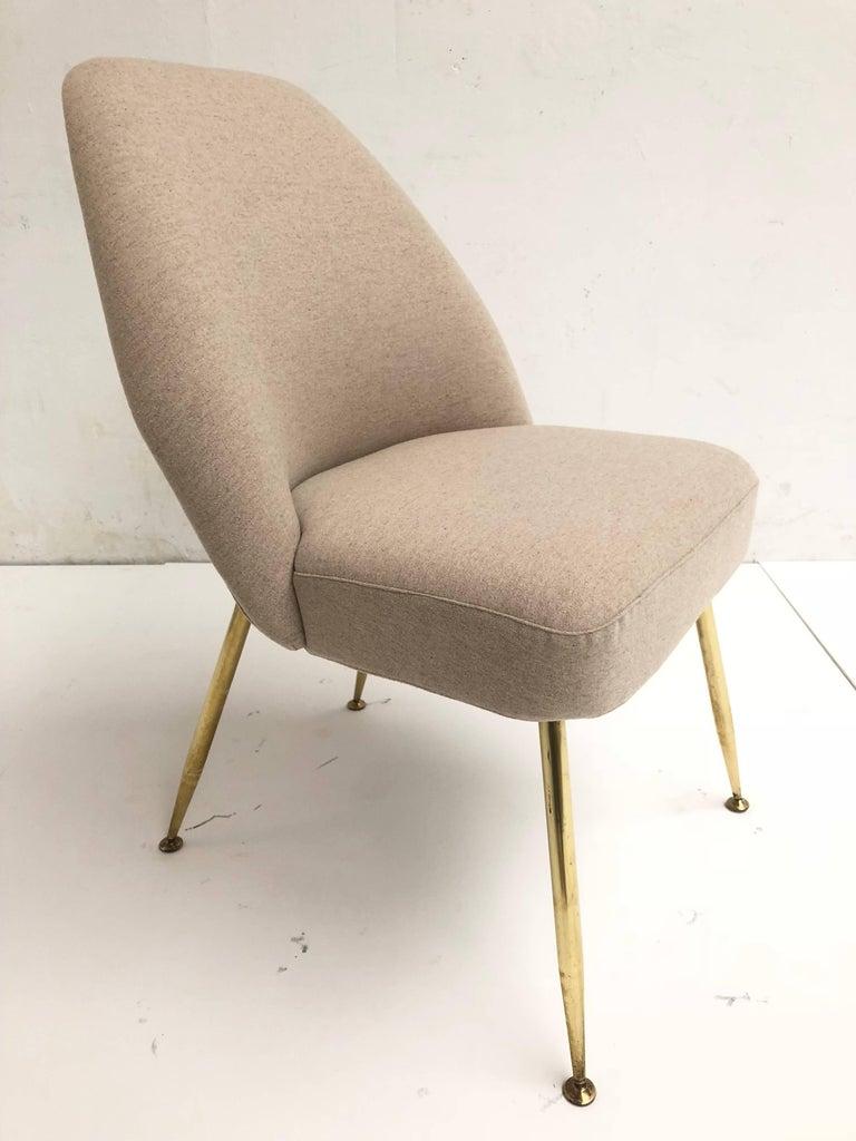 Brass Leg Chairs by Pagani, Partner of Gio Ponti & Linda Bo Bardi, 1952, Arflex For Sale 6