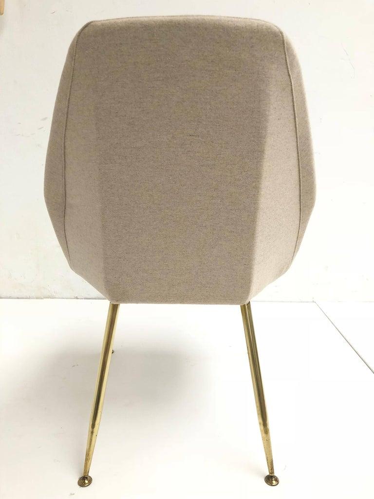Brass Leg Chairs by Pagani, Partner of Gio Ponti & Linda Bo Bardi, 1952, Arflex For Sale 7