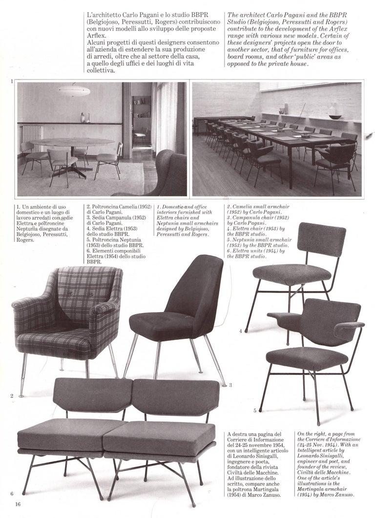 Brass Leg Chairs by Pagani, Partner of Gio Ponti & Linda Bo Bardi, 1952, Arflex For Sale 10