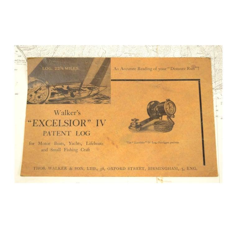 Brass Log Signed Walker's Excelsior IV Patent Log, 1920 circa For Sale 9