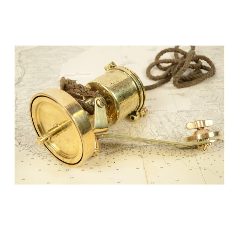 Brass Log Signed Walker's Excelsior IV Patent Log, 1920 circa For Sale 11