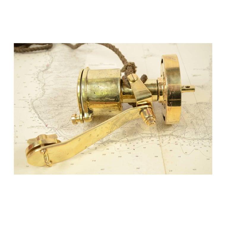 Brass Log Signed Walker's Excelsior IV Patent Log, 1920 circa For Sale 12