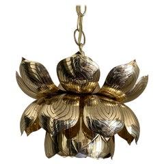 Brass Lotus Pendent Light