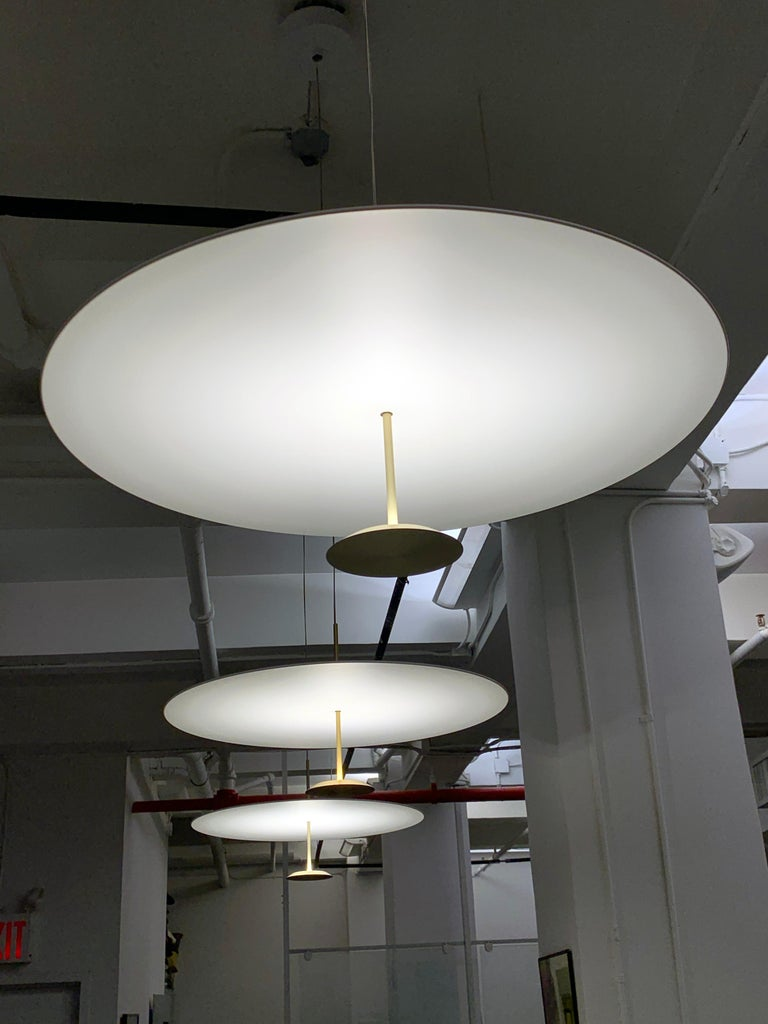 Brass Lumina Dot 60 Pendant Lamp In Good Condition For Sale In New York, NY