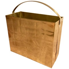 Brass Magazine Rack Waste Bin