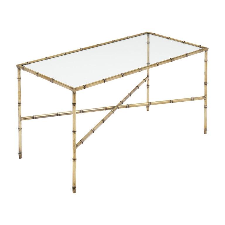 Brass Maison Baguès Coffee Table For Sale