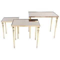 Brass Maison Jansen Nesting Tables