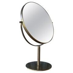 Brass Makeup Vanity Mirror, U.S.A, 1950s