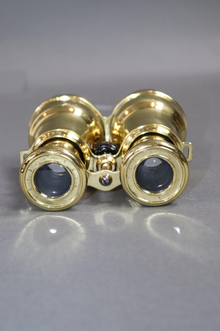 Mid-20th Century Brass Marine Binoculars from Japan For Sale