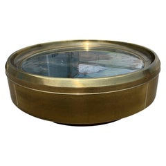 Brass Mastercraft Coffee Table with Mirror