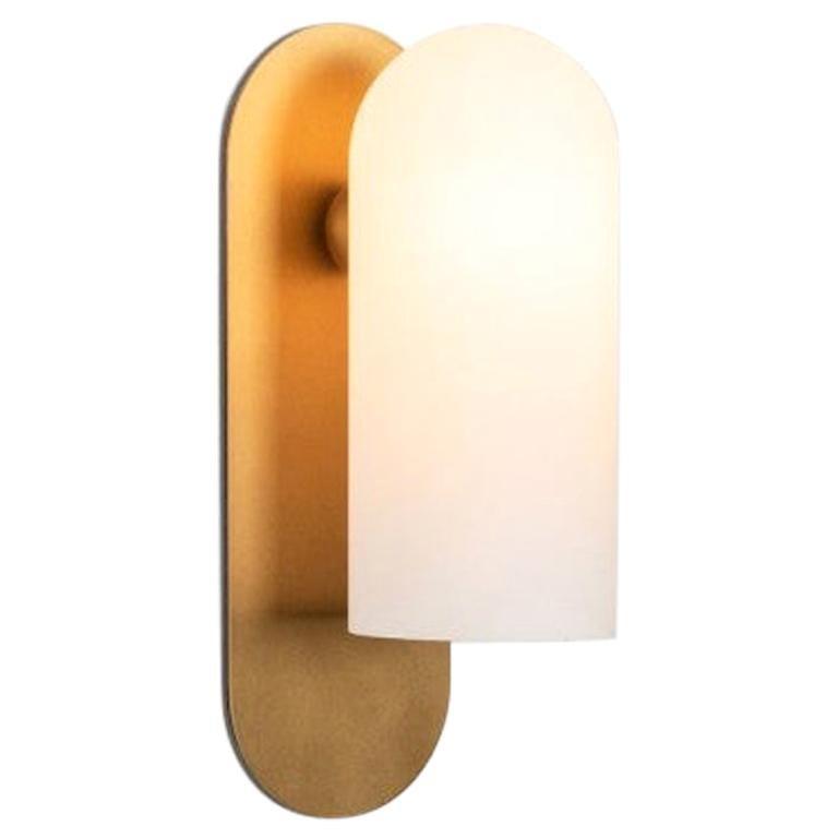 Brass Medium Sconce by Schwung