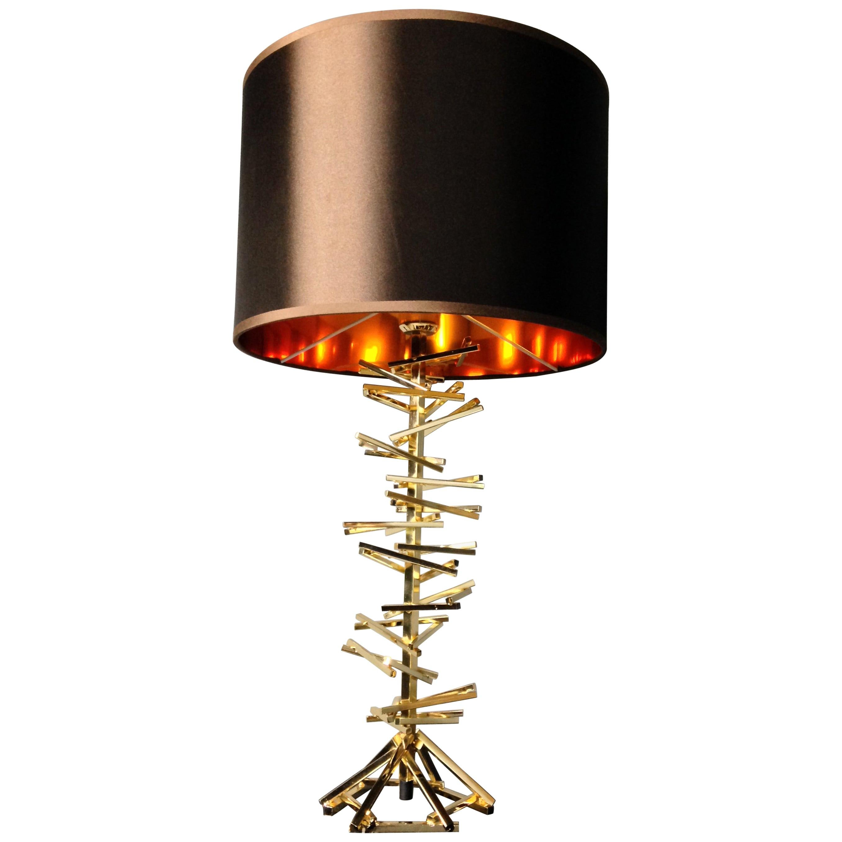 Brass Metal Table Lamp