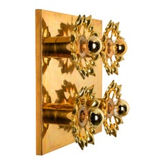 Brass Midcentury Wall Light/Flushmount, 1960
