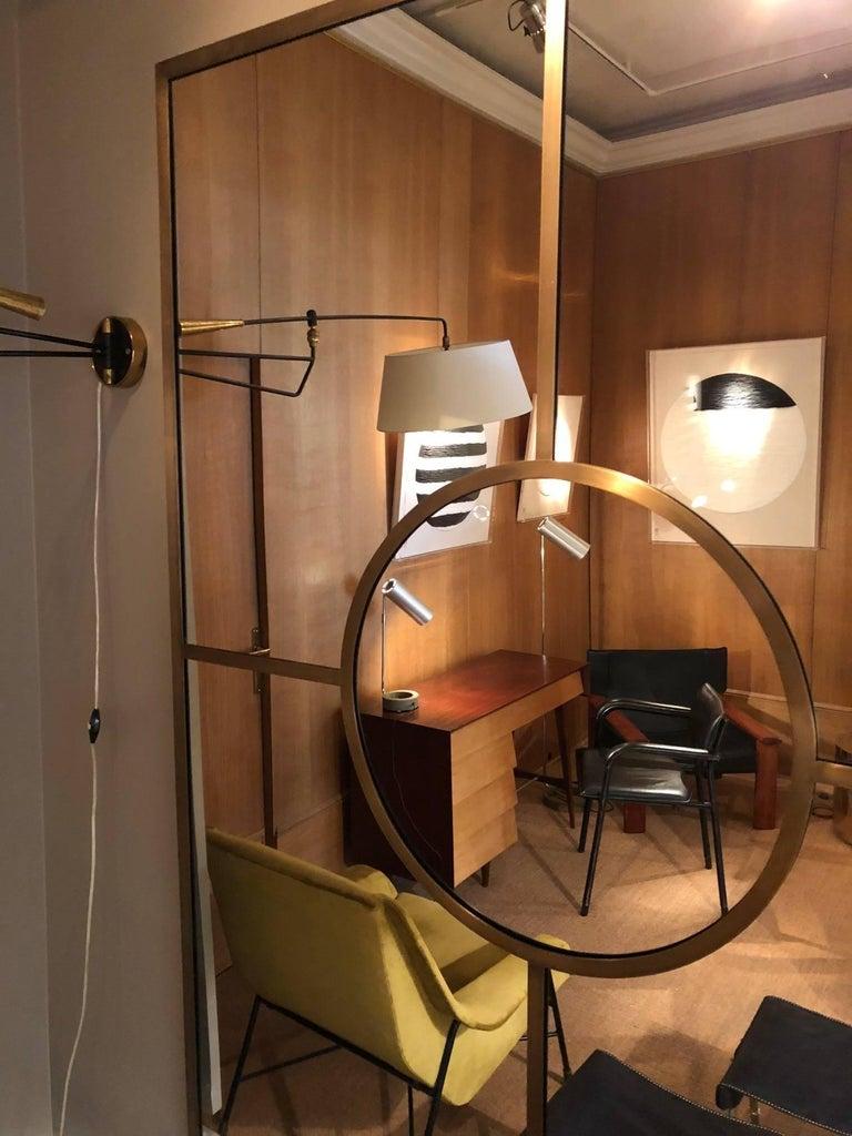 Brass Mirror by Edouard de la Marque In Good Condition For Sale In Paris, FR