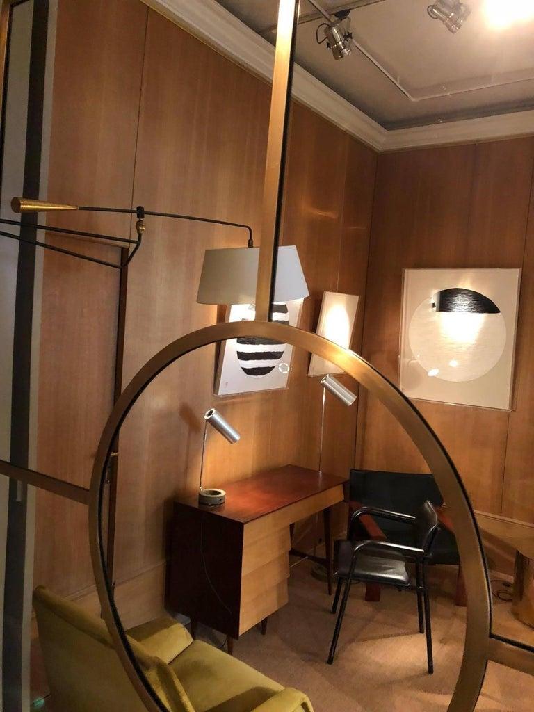Contemporary Brass Mirror by Edouard de la Marque For Sale
