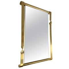 Brass Mirror by Luciano Frigerio, Italy, 1970s